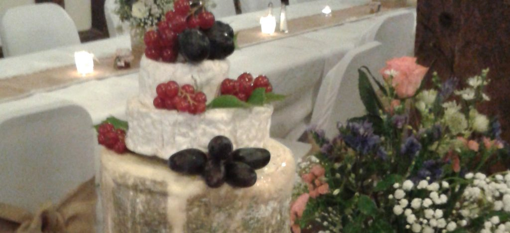 Cheese Wedding Cake Tower