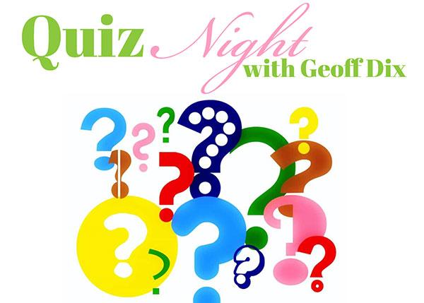 Thursday Quiz Night Geoff Dix